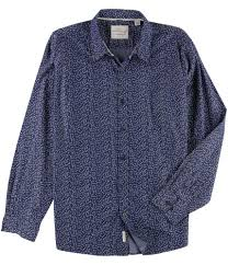 Patterned Button Up Shirts Delectable Weatherproof Mens Printed Button Up Shirt EBay