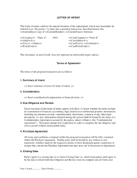 Subcontractor Letter Of Intent Template Resume Cover Letter