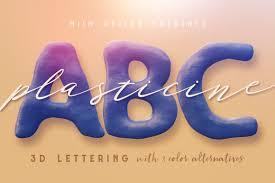 plasticine 3d lettering 01