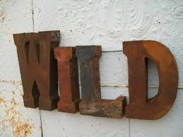 rustic 37 3d metal wild sign trade sign indoor or outdoor wall art  on wall art 3d metal decor with rustic 37 3d metal wild sign trade sign indoor or outdoor wall art
