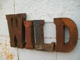 rustic 37 3d metal wild sign trade sign indoor or outdoor wall art