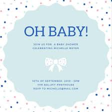baby shower invitations free templates baby shower invitation templates canva