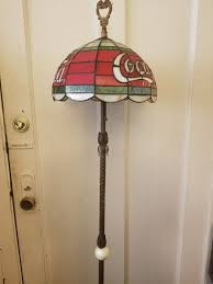 antique coca cola stained glass lamp