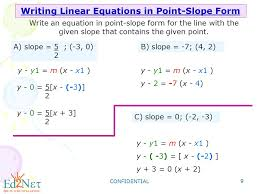 confidential 9 writing linear equations in point slope form write an equation in point