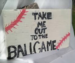 baseball sign take me out to the ball game wooden sign handpainted baseball wall