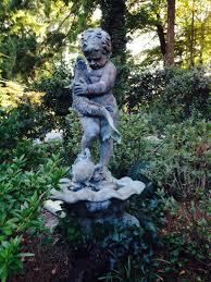 bronze boy with fish fishingboysbronzegarden ornamentsgarden