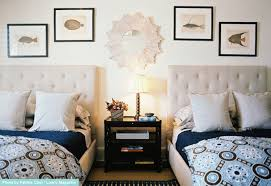 View in gallery Tufted upholstered head boards on two twin beds