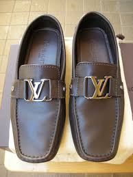 Mens Louis Vuitton Monte Carlo Loafer Shoes Brown Leather