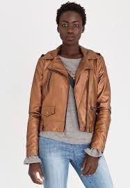 vero moda safra leather look jacket copper