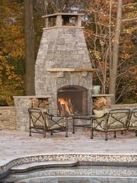 patio fire chimney rustic