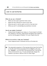 How And When To Use Footnotes Including Word Instructions Examples