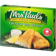 Mrs. Paul\u0027s Crunchy Fish Fillets, 10 ct, 19 oz - Walmart.com