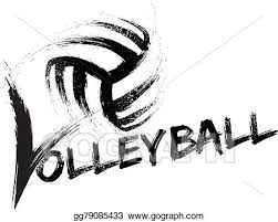 Volleyball Word Vector Art Volleyball Grunge Streaks Clipart Drawing