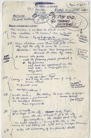 notes and diagrams show how famous authors including j k rowling ideas the outline for light years a 1975 novel by james salter the