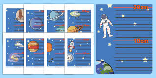 Space Themed Height Chart Space Themed Height Chart