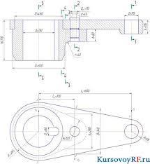 Курсовая разработка радиально осевой турбины и сервомотора  все чертежи