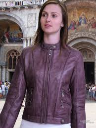2016 short leather jackets for women purple leather