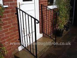 external handrails for steps uk. powder-coated ornate handrails created for a customer in normoss, external steps uk d