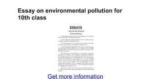 essay on environmental pollution for th class google docs