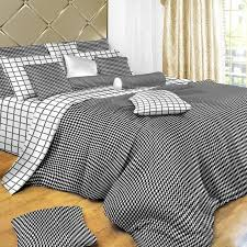 black white check queen duvet cover set