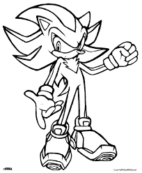 Small Picture Shadow The Hedgehog Coloring Pages GetColoringPagescom
