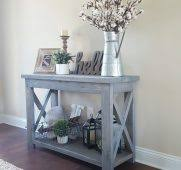 Image Entrance Modified Ana White Rustic Console Table And Used Minwax Classic Regarding Farmhouse Entry Remodel Jjhwatkinscom Charming New Modern Farmhouse Entry Way Console Table Decor Home