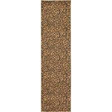wildlife leopard light brown 2 7 x 10 0 runner rug