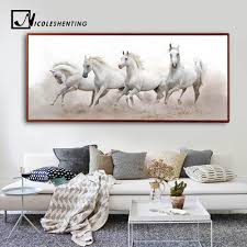 Dieren Wit Paard Wall Art Canvas Posters En Prints Landschap Canvas