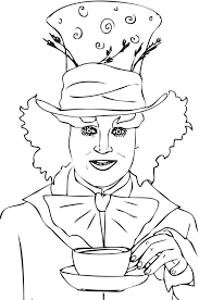Small Picture Johnny Deep Mad Hatter Coloring Page Color Luna