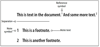 what are notes  reference symbol this symbol references and links from the document text to the actual note the corresponding symbol the reference symbol is usually