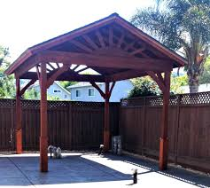 gazebo with gable roof built in 3 days
