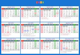 2018 printable calendar with indonesia holidays free printable