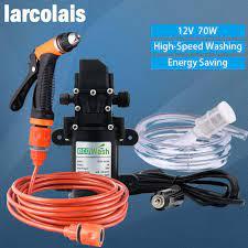 Satın Al 12 V Araba Yıkama Tabancası Pompası Yüksek Basınçlı Temizleyici  Araba Bakımı Taşınabilir Çamaşır Makinesi Elektrikli Temizleme Oto Cihazı  Kendinden Ulaştırma Aracı, TL296.32