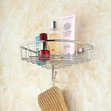 bathroom shower caddy rust proof stainless steel shower bath basket storage shelf hanging organizer rustproof wall