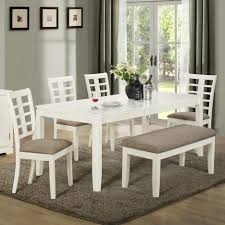 White Bench For Kitchen Table Kitchen Trendy Kitchen Table With Bench Within Kitchen Tables