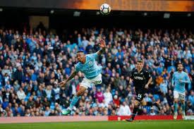 James milner shoots direct from the free kick, michel vorm makes a save. Man City V Swansea 2017 18 Premier League