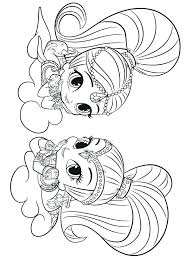 Shimmer And Shine Mermaid Coloring Pages Shimmer And Shine Coloring