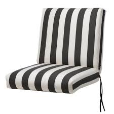 outdoor dining chair cushions. Home Decorators Collection Sunbrella Maxim Classic Stripe Outdoor Dining Chair Cushion Cushions