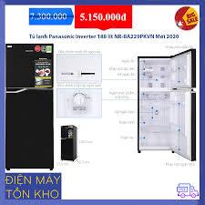Tủ lạnh Panasonic Inverter 188 lít NR-BA229PKVN Mới 2020 - giá siêu rẻ