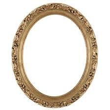 Oval frame design Round Oval Frame 602 Gold Leaf Vectorstock Oval Frames Round Frames Oval Picture Frames Round Picture