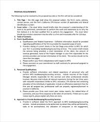 accounting proposal template bookkeeping proposal