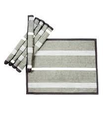 black round rattan placemats table mats uk striped cotton set of 6 kitchen