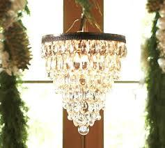 pottery barn clarissa chandelier crystal