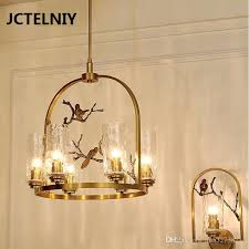 new american copper chandelier lamp nordic personality art tree glass bird copper copper chandelier dining pendant lights pendant track lights from