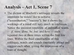 act summary and analysis ppt  analysis act 1 scene 7