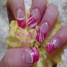 Fresh Pink and Silver Nail Designs