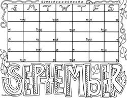 Small Picture Calendar Months Coloring Pages Classroom Doodles