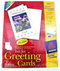 Avery Greeting Cards Details About Avery 3265 Inkjet Greeting Cards Half Fold 20 Unprinted Cards And Envelopes