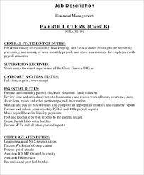 payroll clerk duties