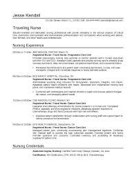 Nurse Resume Objective Jk Travel Nurse